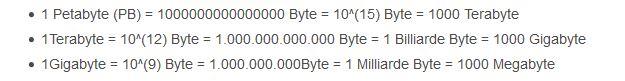 DNA Datenspeicherung Petabytes
